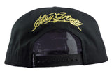 Stay Grimey Snapback Cap - Black/Metallic Gold - HATCOcaps.com  - 3