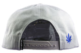 Cloud L Snapback Cap - Light Grey/Royal - HATCOcaps.com  - 3