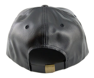 Blank PU Leather Strapback Caps - HATCOcaps.com  - 4