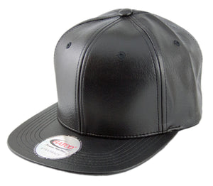 Blank PU Leather Strapback Caps - HATCOcaps.com  - 3