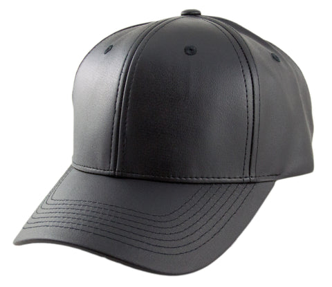 Blank PU Leather Velcroback Caps - HATCOcaps.com  - 1