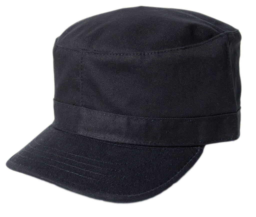 Blank Army Cap - Black