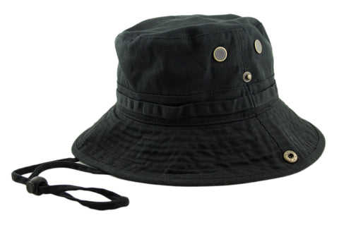 Boonie Hat - Black - HATCOcaps.com