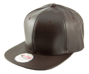 Blank PU Leather Strapback Caps - HATCOcaps.com  - 1