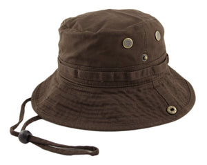 Boonie Hat - Brown - HATCOcaps.com