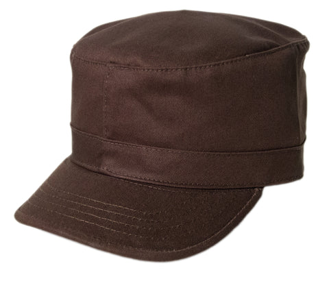Blank Army Cap - Brown
