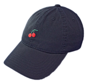 Cherry Dad Hat - Black