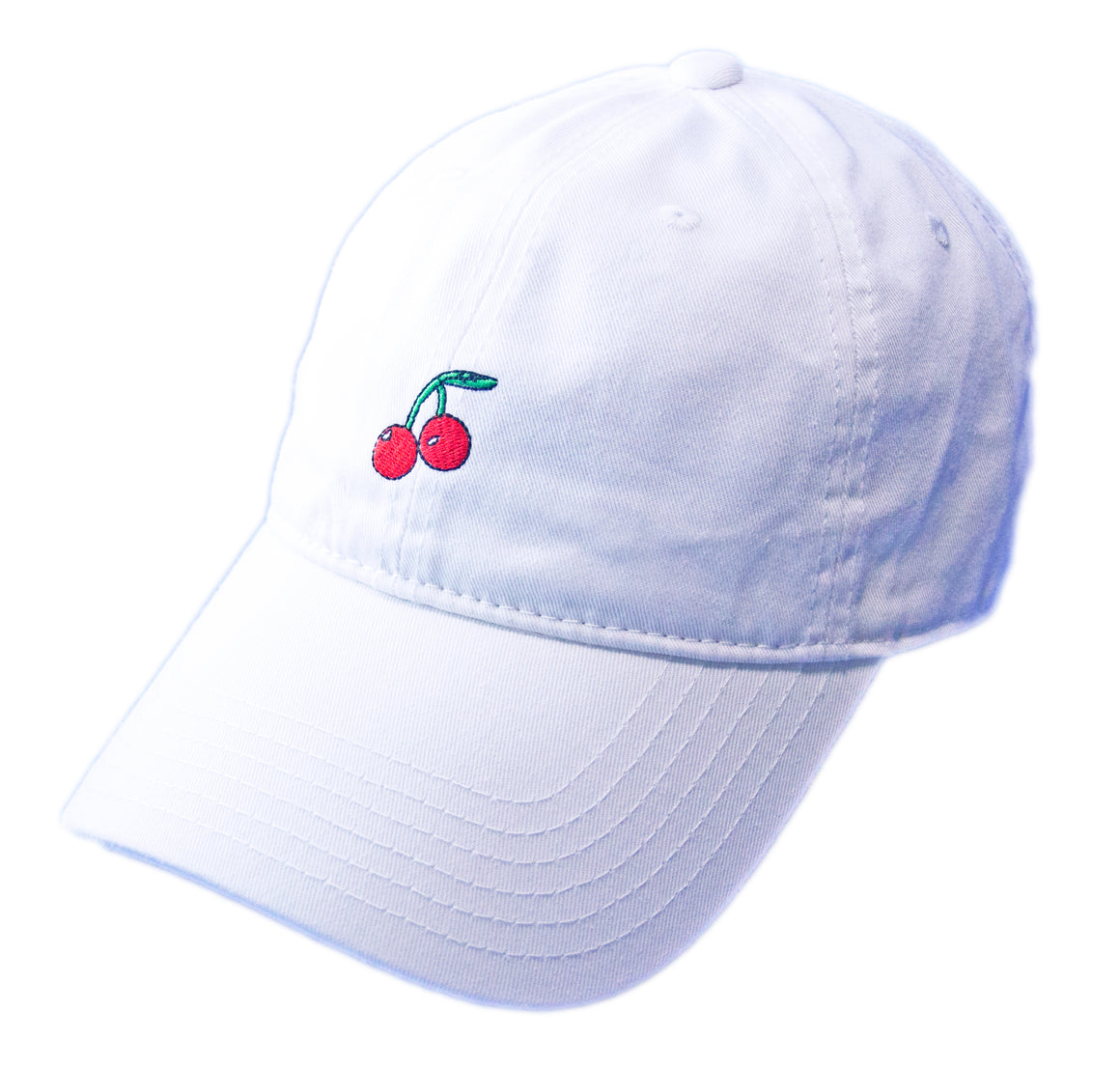 Cherry Dad Hat - White