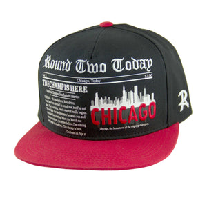 Round Two Today - Chicago - Snapback Cap - HATCOcaps.com  - 2