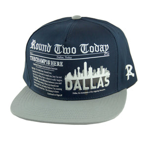 Round Two Today - Dallas - Snapback Cap - HATCOcaps.com  - 2