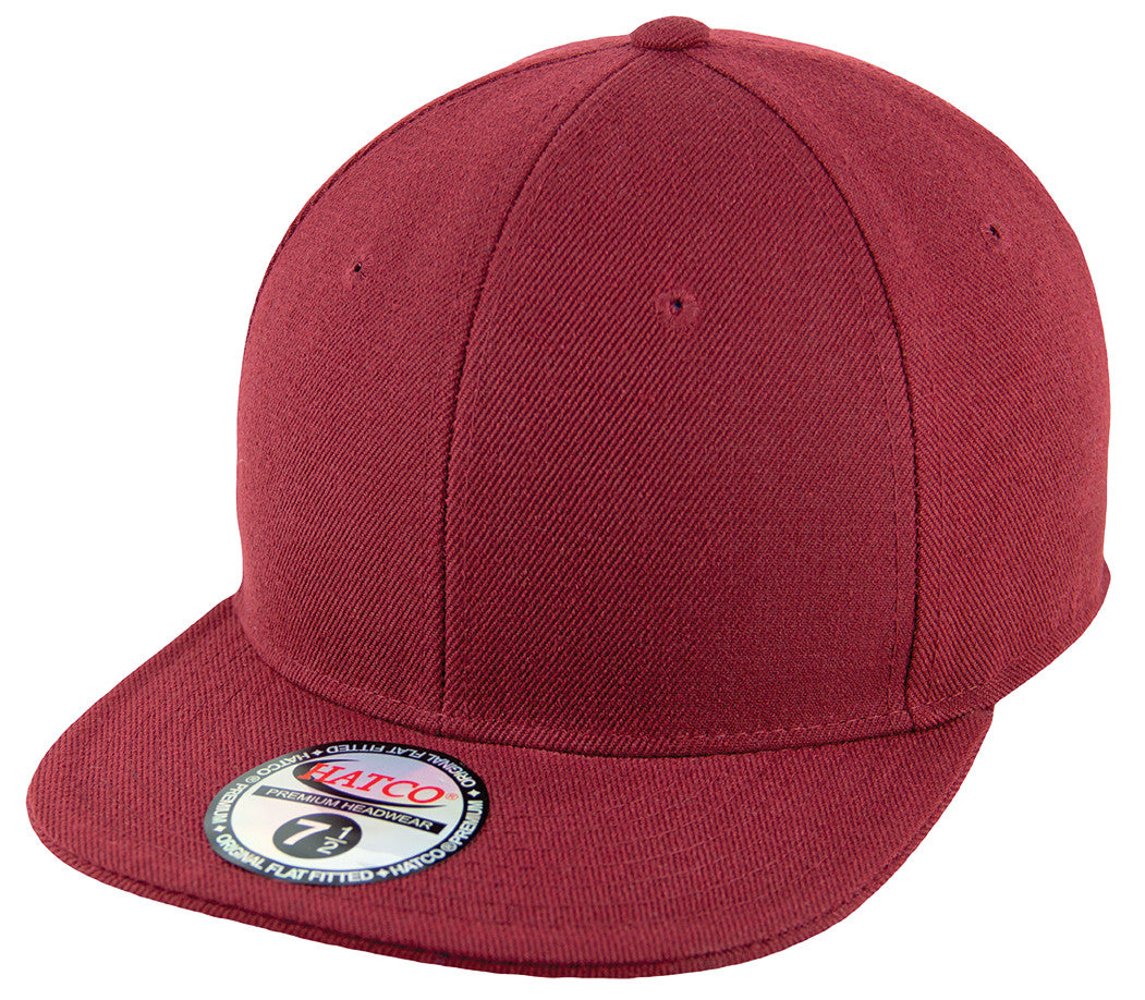 Plain Fitted Hat Maroon