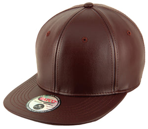 Blank PU Leather Fitted Caps - HATCOcaps.com  - 3