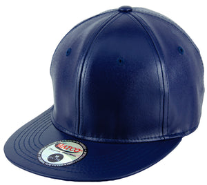 Blank PU Leather Fitted Caps - HATCOcaps.com  - 2