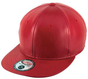 Blank PU Leather Fitted Caps - HATCOcaps.com  - 4