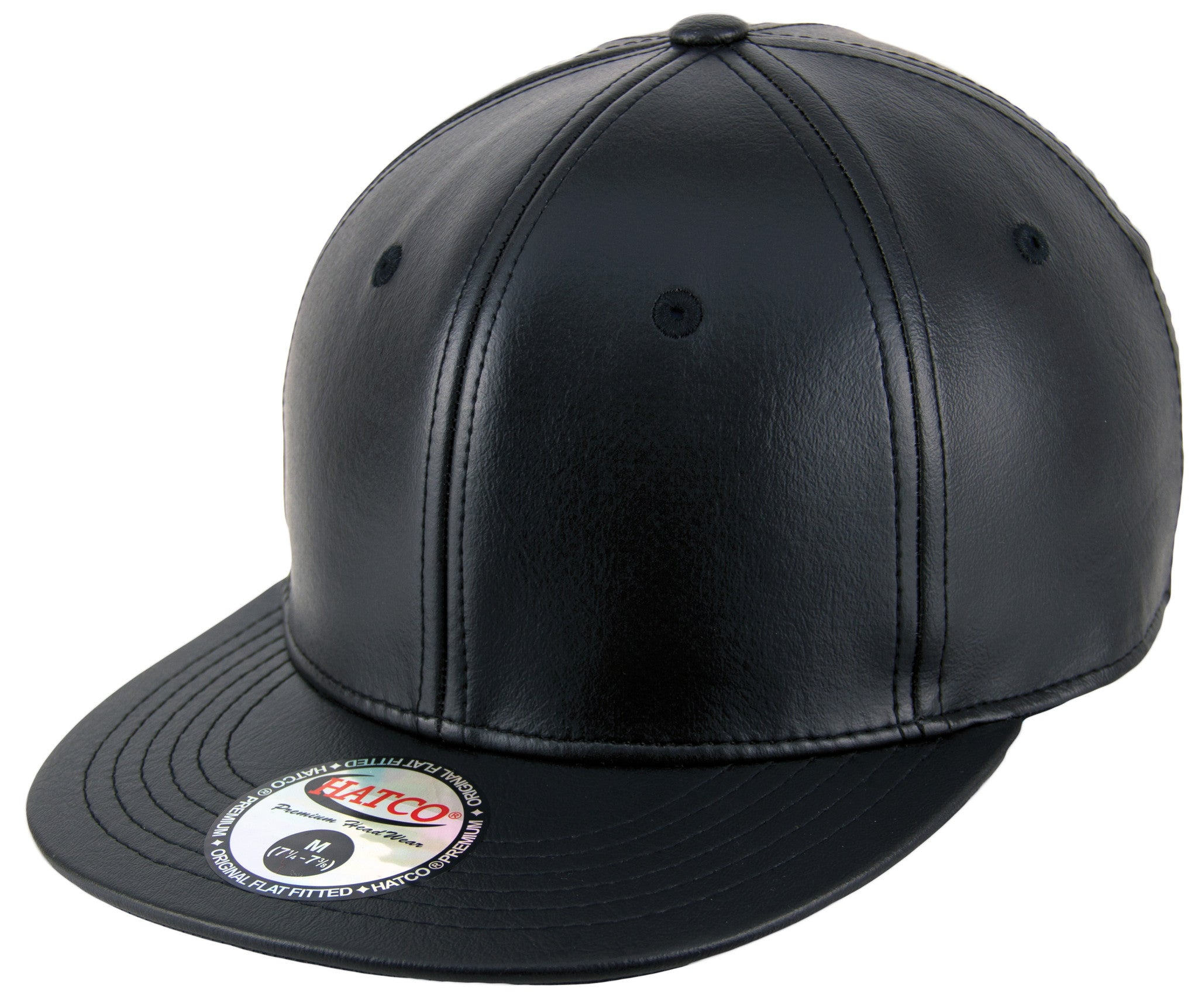 ... Blank PU Leather Fitted Caps - HATCOcaps.com - ... 3a6391077a3