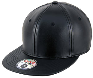 Blank PU Leather Fitted Caps - HATCOcaps.com  - 1