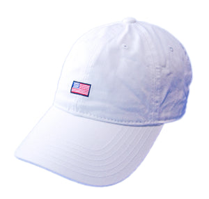 USA Flag Dad Hat - White