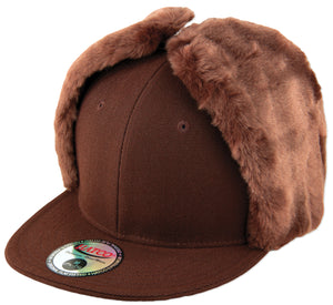 Blank Faux-Fur Dog Ear Fitted Caps - HATCOcaps.com  - 6