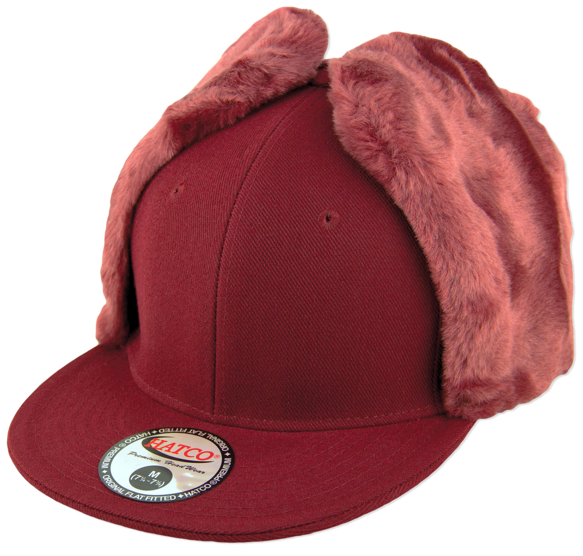 e7a68e080cd3b ... Blank Faux-Fur Dog Ear Fitted Caps - HATCOcaps.com - ...