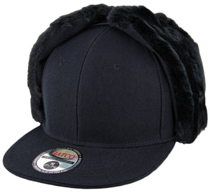 Blank Faux-Fur Dog Ear Fitted Caps - HATCOcaps.com  - 2