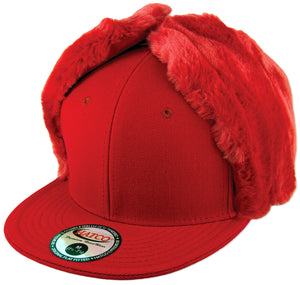 Blank Faux-Fur Dog Ear Fitted Caps - HATCOcaps.com  - 1