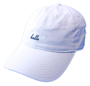 Hello Dad Hat - White