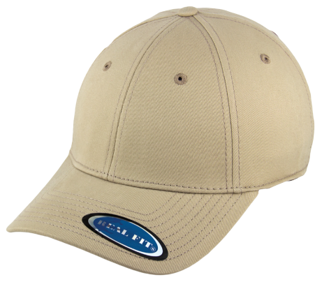 Blank Stretch Fit Cap - Real Fit - Khaki - HATCOcaps.com  - 1