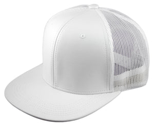 Blank PU Leather Mesh Snapback Caps - HATCOcaps.com  - 7