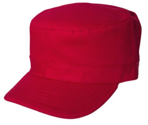Blank Army Cap - Red