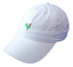Rooster Dad Hat - White