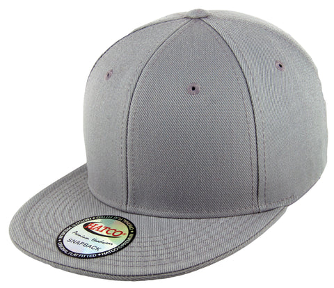 Blank Acrylic Snapback Cap - Light Grey - HATCOcaps.com