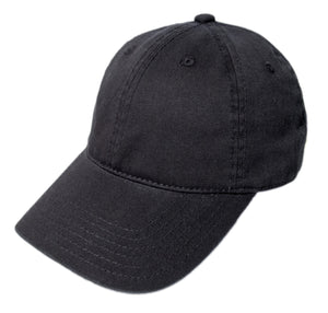 Blank Heavy Washed Cotton Cap - Black