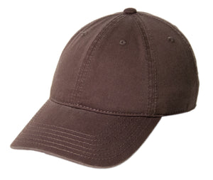 Blank Heavy Washed Cotton Cap - Brown