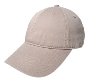 Blank Heavy Washed Cotton Cap - Khaki