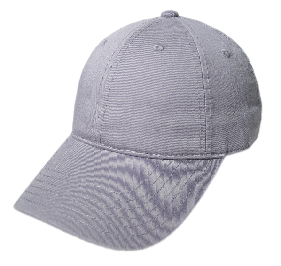 Blank Heavy Washed Cotton Cap - Light Grey