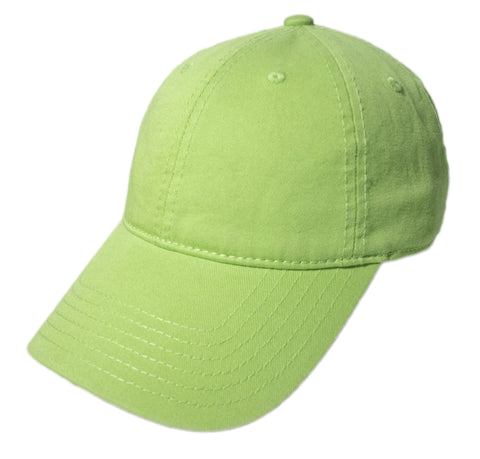 Blank Heavy Washed Cotton Cap - Lime