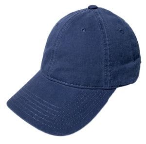 Blank Heavy Washed Cotton Cap - Navy