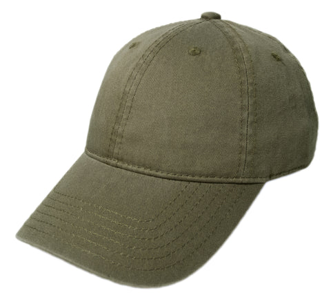 Blank Heavy Washed Cotton Cap - Olive
