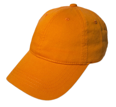 Blank Heavy Washed Cotton Cap - Orange
