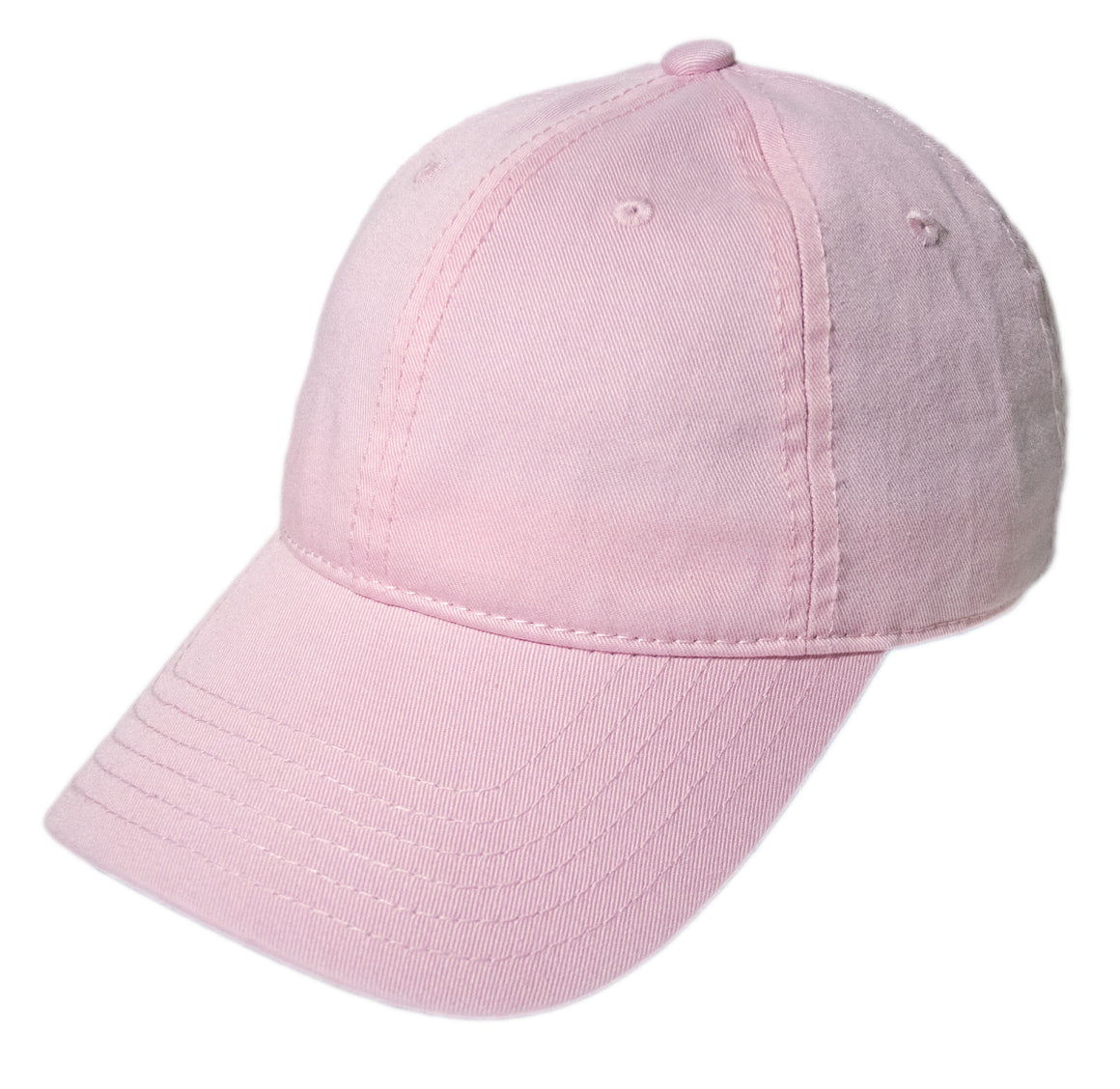 Blank Heavy Washed Cotton Cap - Light Pink
