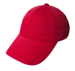 Blank Heavy Washed Cotton Cap - Red