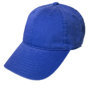 Blank Heavy Washed Cotton Cap - Royal