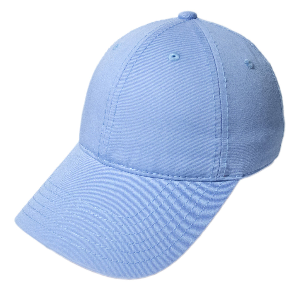 Blank Heavy Washed Cotton Cap - Sky Blue