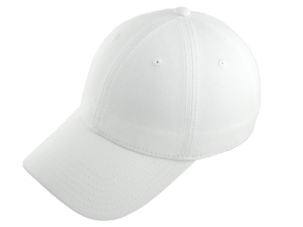 Blank Heavy Washed Cotton Cap - White