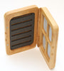 Bamboo fly box | split foam on side | magnetic compartments