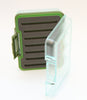 Clear waterproof fly box | green