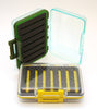 Clear waterproof fly box | yellow and green