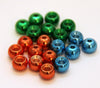 Brass fly ting beads | Metallic coloured | Red, Blue, Green