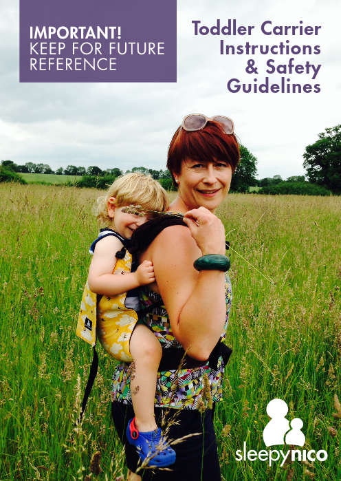 Toddler Safety Instructions Booklet PDF