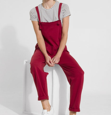 red oversize Jumpsuit